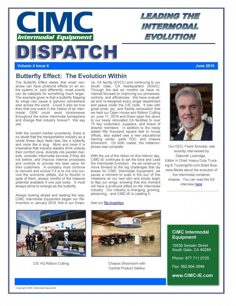 CIMC Dispatch June 2019
